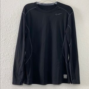 ✅Men Nike Pro Combat Workout Long Sleeve Shirt M